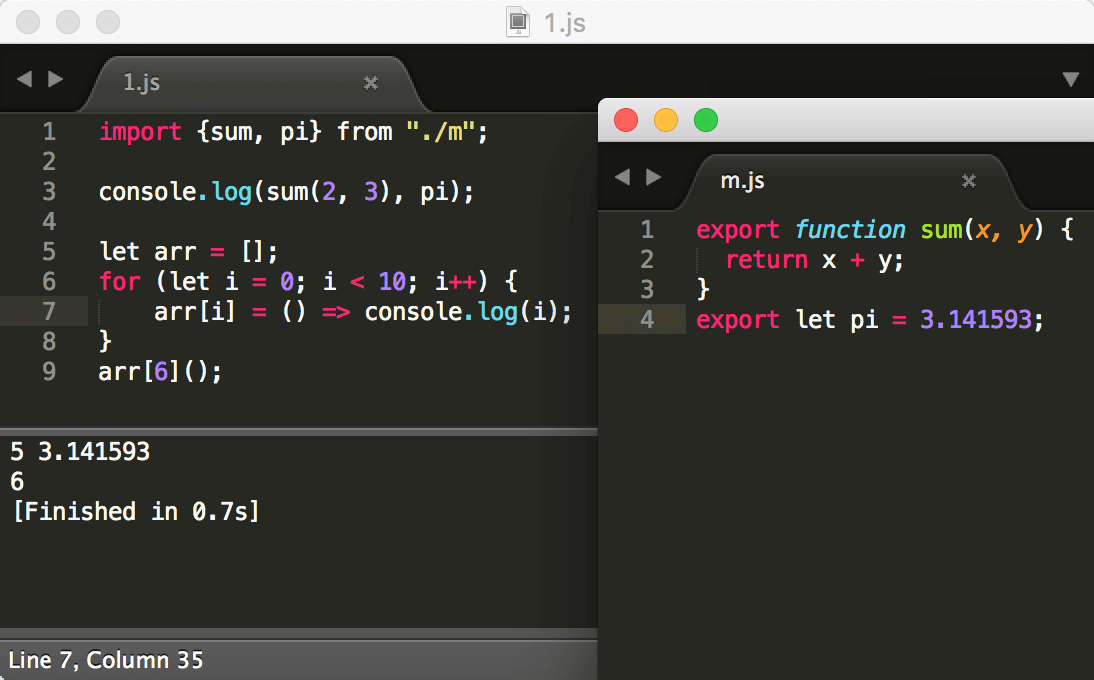 Sublime Text 之运行 ES6 (基于babel)