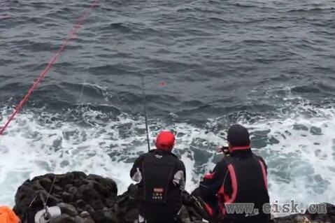 山口県萩市見島でマグロ釣り(磯)gamakatsu 天剛
