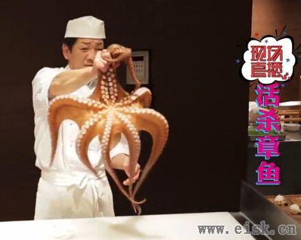 重口味!活杀章鱼料理!请在家长陪同下观看